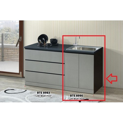 Ready-Fixed 2-Feet Kitchen Cabinet With Sink Kitchen Rack Kitchen Storage  Kitchen Sink Dish Washer L