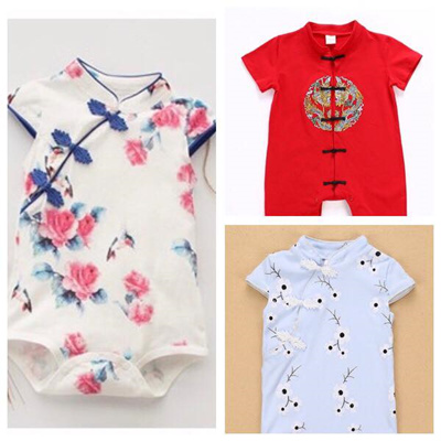 135b30617 Ready Stock Baby Boy Girls Cheongsam Romper New born to 24months kids CNY  Romper Traditional Clothes