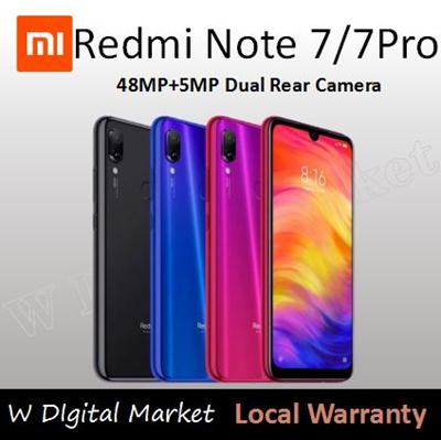 Ready stocks 2019 Latest Model Xiaomi Redmi Note 7 Pro 6+128GB New Mobile  Phone Smartphone