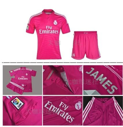 best service f7969 e77c5 Real Madrid shirt 14-15 home White Polo pink football uniform away without  number uniforms