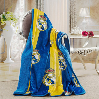 Qoo40 Real Madrid Silk Touch Sherpa Lined Throw Blanket 40x40 Custom Real Madrid Throw Blanket