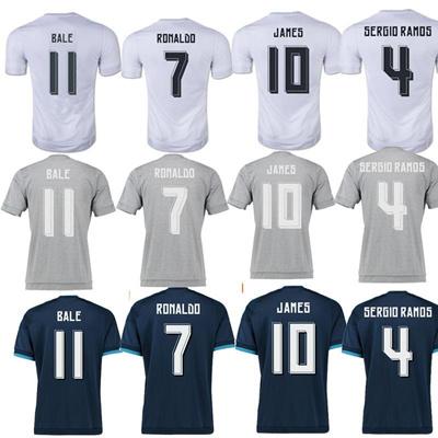 e25b98134 Qoo10 - Real madrid soccer Jersey 15 16 RONALDO home away JAMES BALE RAMOS  ISC...   Sports Equipment