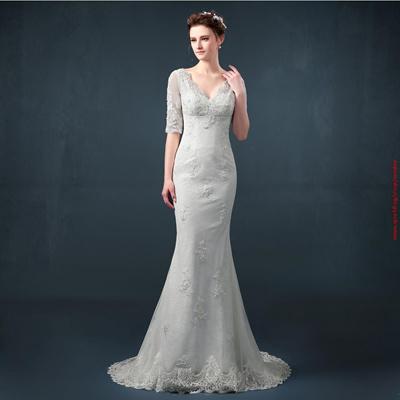 Real Photo Fast Shipping Crystal Bandage Y Mermaid Wedding Dresses Vestidos De Noiva Robe Mariage