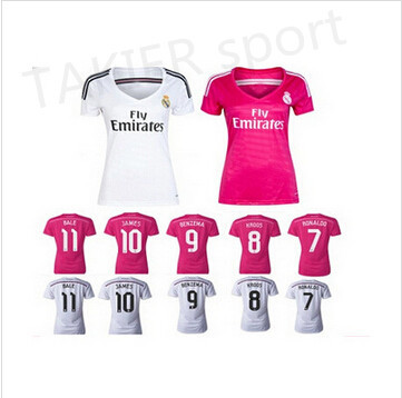 more photos 7849e ce23a Real Women season home and away jerseys Real Madrid Ladies pink ball gown  Women Thai version