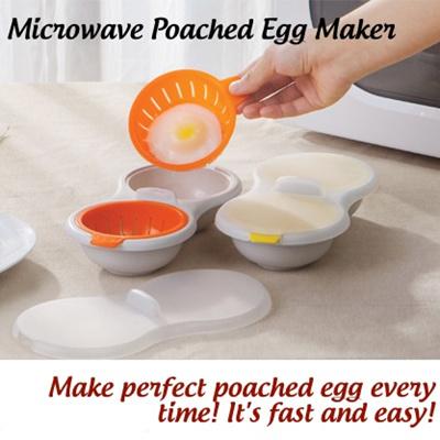 Rebrandt Sg Local Microwave Poached Egg Maker Steam Soft Boiled Benedict