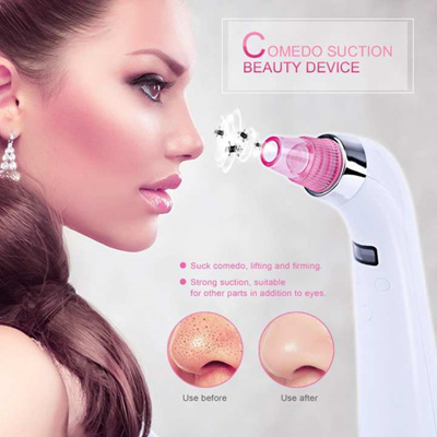 996c85a2860bf Qoo10 - Rechargeable Portable Facial Blackhead Acne Removal Comedo Suction  Bea...   Cosmetics