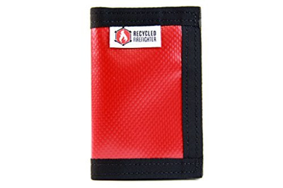 Recycled Firefighter Bifold Money Clip Wallet Waterproof Material -  Recycled + Made in USA - Unique