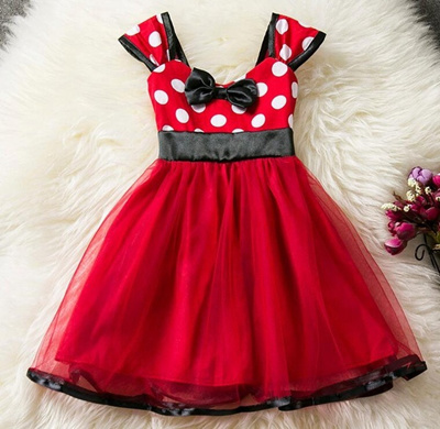 Qoo10 Red Summer Baby Dress For Girl Minnie Mouse First Birthday