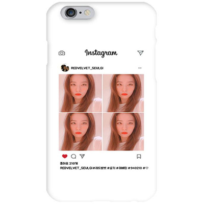on sale 80b5a 8d83b Red Velvet Instagram Seulgi 1 White Hard Matte Phone Case Apple iphone X XS  XR 8765 Samsung GalaxyS9