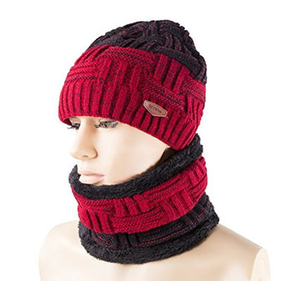 Qoo10 - REDESS Winter Warm Beanie Knitting Hat Scarf Neck Warmer Set for Men  a...   Men s Apparel aacb936051a3