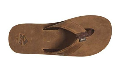 bacc78dcb30b Qoo10 - Reef - Reef Leather Smoothy Mens Flip Flop - 8 - Bronze ...