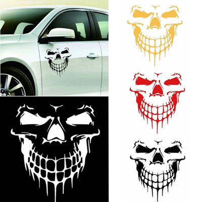 Reflective Skull Car Stickers Styling Removable Waterproof Sticker Decoration