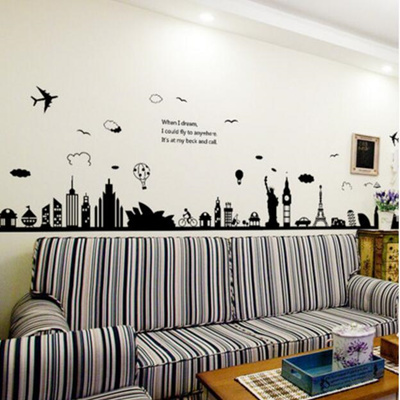 Qoo10 Removable Wall Sticker Living Room Bedroom Background