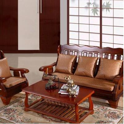 Removable Wood Sofa Cushion Summer Seasons Mat Thick Mahogany Rattan Seats Foam Pad