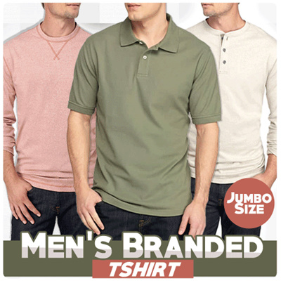 RESTOCK-Branded USA Cotton Men Tees | Polo Shirt Kaos Lengan Panjang | atasan pria