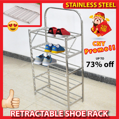 Retractable Shoe Rack   Stainless Steel Durable Light Shoes Bench Shoe  Stack Local Seller
