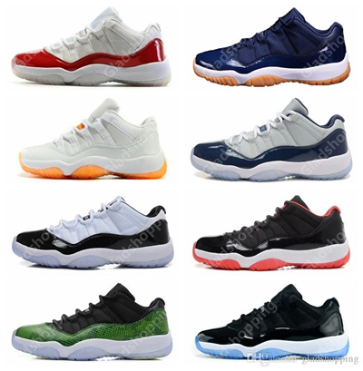51681a96afa Qoo10 - Retro 11 Low White Red Navy Gum Basketball Shoes Bred Georgetown  Space... : Bags Shoes & Acc..