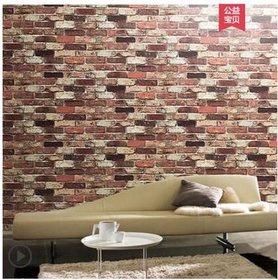 Retro Nostalgic Bedroom Stickers Self Adhesive Brick Wallpaper Living Room Tv Background Wall Sticke