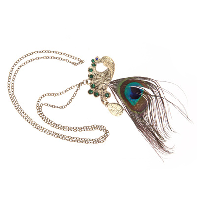 metal peacock colour pendant american rs lifestyle my multi set feather dt shop diamond