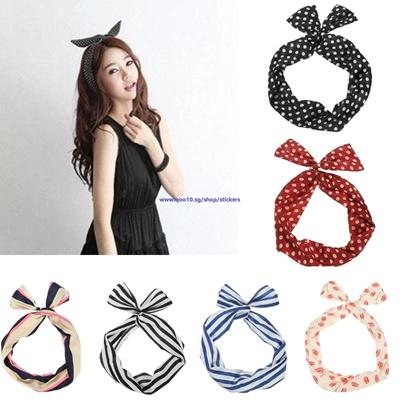 Qoo10 - Retro Polka Dot Hair Band Ear Ribbon Headband Turban Hair  Accessories   Cosmetics cd8d39bfc0b