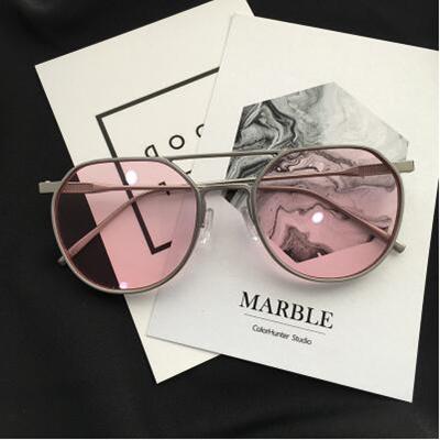 824ebe5a32 Qoo10 - Retro small face models womens sunglasses small round frame female  sun...   Fashion Accessor.