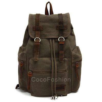 Retro Vintage Canvas Backpack Rucksacks Travel Sports Satchel School Hiking Bag