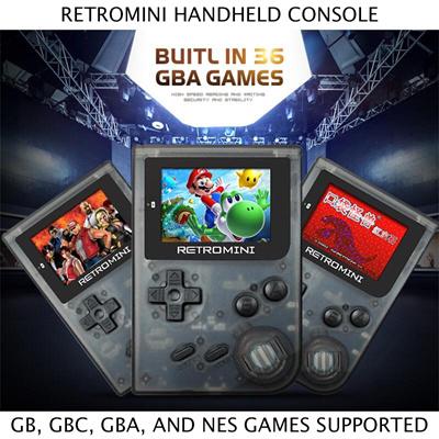 Qoo10 - Retromini Game Console 32 Bit Portable Handheld With 36 GBA