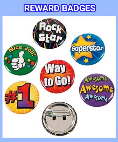 a828933c9 Reward Buttons Pin Badges Mini Buttons Motivational Rewards Encouragement  Children Gifts