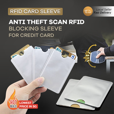 e5081aa64e1e RFID Card Sleeve * Protect your Credit Card Info Anti Scan Blocking  Passport Gift Lock Wallet Travel