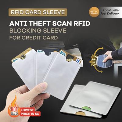 9754ee1cbd79 RFID Card Sleeve * Protect your Credit Card Info Anti Scan Blocking  Passport Gift Lock Wallet Travel