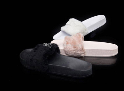9daf04b69b16 Rihanna Fenty Slides With Original Boxes Leadcat Shoes White Grey Pink  Black Blue Red Womens Slipp