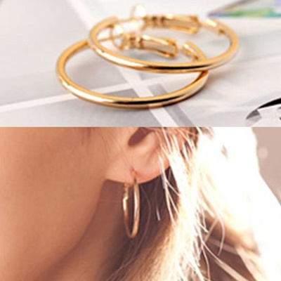 bd38fe7b673 Qoo10 - Ring Earrings Gold (Small) R. ER029 korea fashion style free  shipping   Men s Bags   Shoes