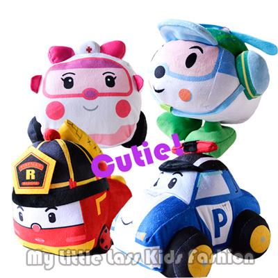 Qoo10 - Robocar Poli Amber/poli/Roy Stuff Toys Soft Toys ...