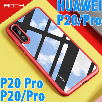 the best attitude 4fe2a 30030 ROCK Slim Case for Huawei P20 P20 Pro Case Shockproof Case Back Cover