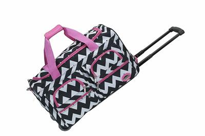 Rockland Luggage 22 Inch Rolling Duffle Bag Small Zebra