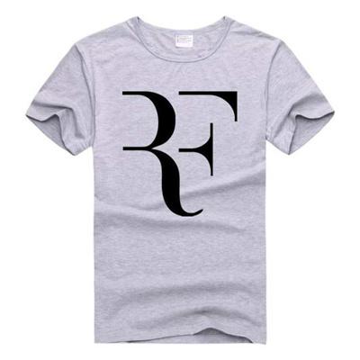 3f7c2c8723f7 Qoo10 - Roger Federer RF Printed Tee Shirt Men Casual Short Sleeve T Shirt  Sum...   Sportswear