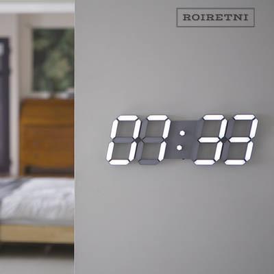 ROIRETNI Cool Grey Smart LED Digital Wall Clock