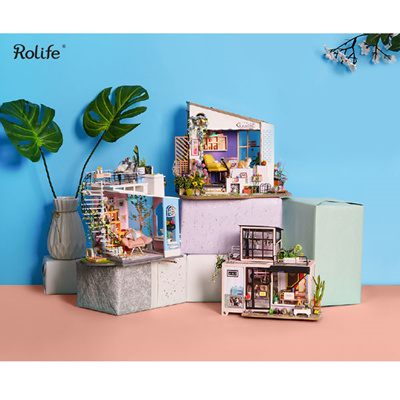 Rolife stone house DIY miniature doll house / wood craft