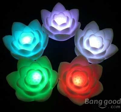 Qoo10 Romantic Color Changing Led Colorful Wishing Lotus Flower