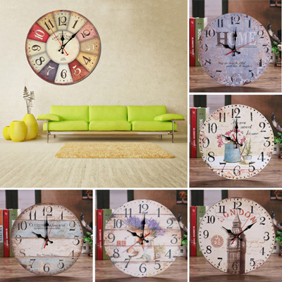 Qoo10 Room Antique Decor Wall Clocks