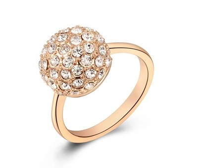 Qoo10 Rose Gold Plated Cubic Zirconia Crystal Wedding Rings Women