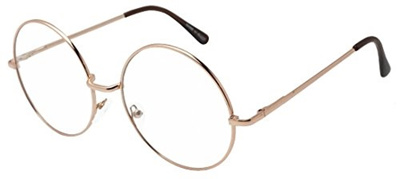 5fde913976f Qoo10 - Round Double Metal Wire No Prescription Oversized Sunglasses Clear  Len...   Fashion Accessor.
