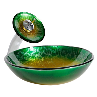 Qoo10 Round Glass Tempered Glass Vessel Sink Basin And Alloy