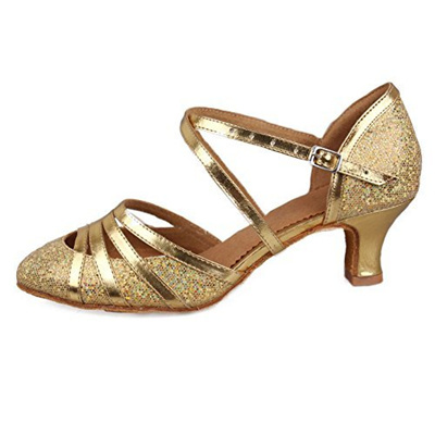 ad08a7f5a3d73 Roymall Women s Fashion Ballroom Party Glitter Latin Dance Shoes Model  CMJ-511