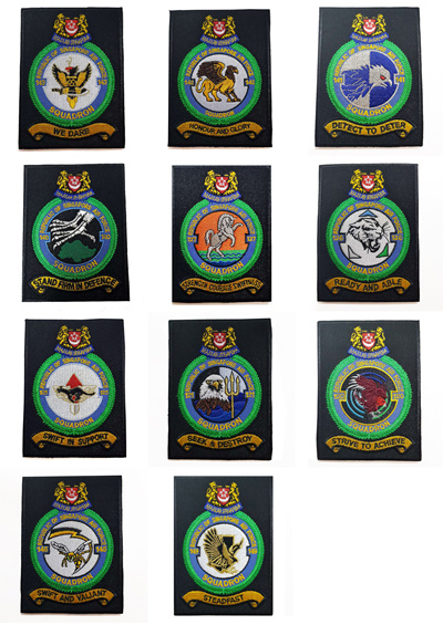 RSAF Republic of Singapore Air Force Squadron Patches w Velcro Backing  Collectible Assorted