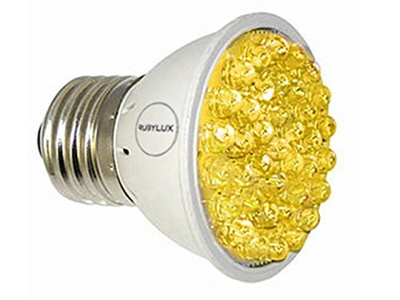 RubyLux Amber Yellow High Intensity LED Bulb - 570nm to 590nm Size Small 2