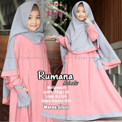 aa6ed855c Qoo10 - Rumana Kids Syari    Gamis Anak    Muslim Children s ...