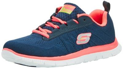 0e23a563f9ef  runcity  Skechers Flex Appeal Sweet Spot, Damen Sneakers, Blau (NVHP)