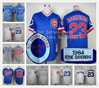 reputable site a7c77 d0a1f Ryne Sandberg Jersey Vintage 1988 Chicago Cubs Cooperstown Jerseys White  Blue Grey Cream