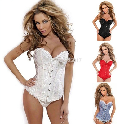 3017f498ea S -2XL hot seller Plus size classic wedding corset bustier Sexy body slim satin  lace